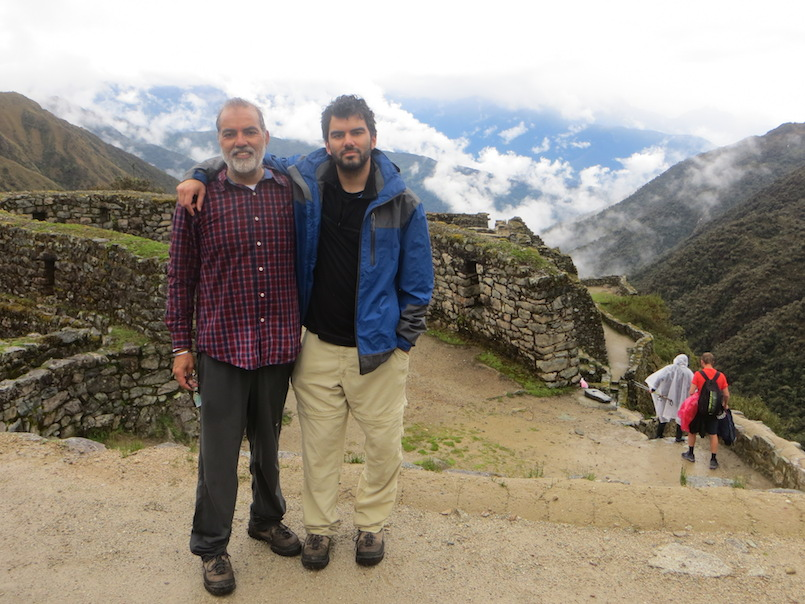 Barj Dhahan and his son at Machu Pichu